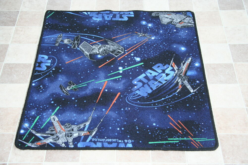 Quality Star Wars Rug Childrens Bedroom SpaceShips Mat Rug