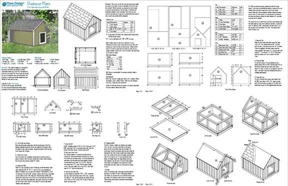Large Dog House Plans Gable Roof Style Doghouse 90304G