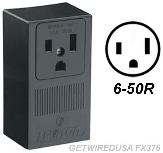 Welder 3 Prong 6 50r Female Receptacle 3 Pin Power Cord