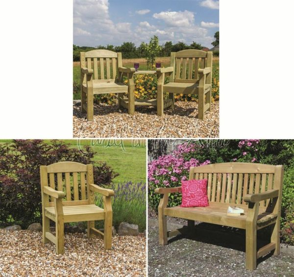 outdoor patio furniture Elda Solid Wood Outdoor Furniture Garden Dining Set Table