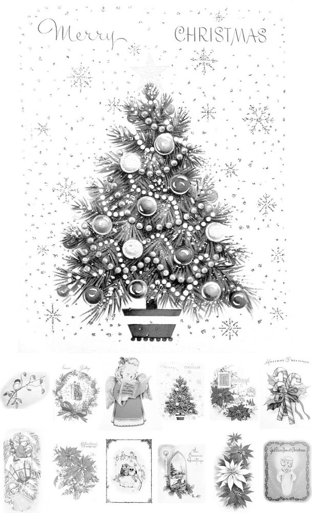 Adult Grayscale Coloring Book 24 Cards 45x65