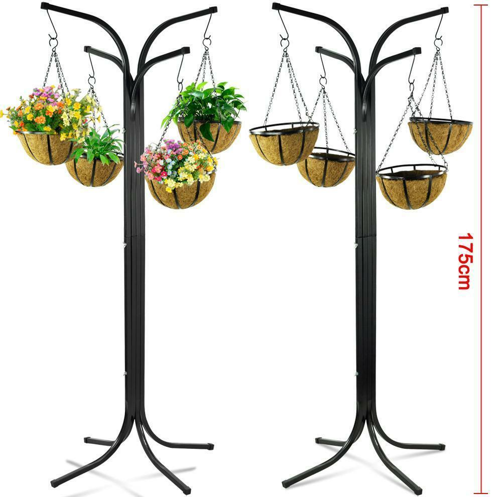 4 Arm Tree Cascade Hanging Basket Patio Stand Garden Plant ... on Hanging Stand For Plants  id=74472