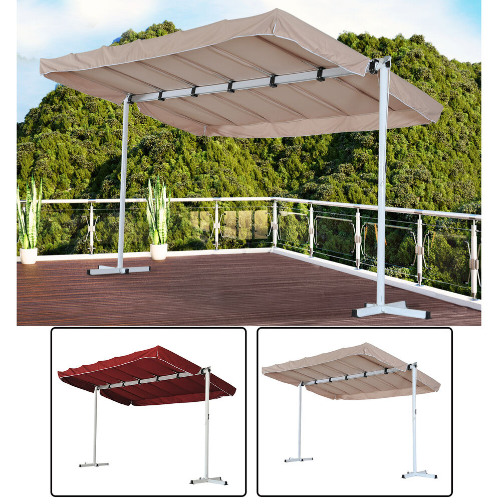 Outsunny Outdoor Gazebo Canopy Free Standing Shelter Rain ... on Patio Cover Ideas For Rain id=63926
