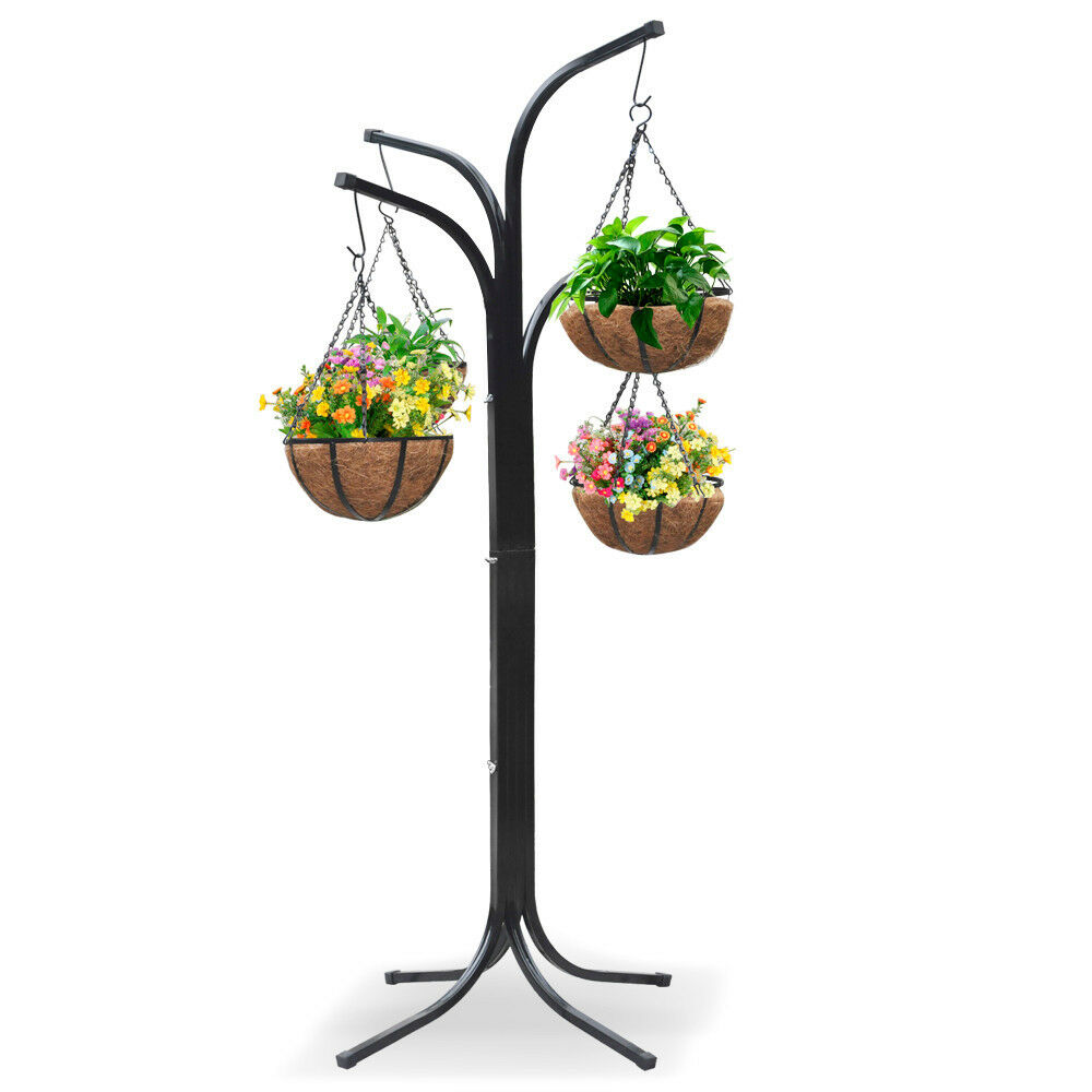 Plant Stand Hanging Holder Basket Patio Outdoor Flower ... on Plant Stand Hanging  id=97524
