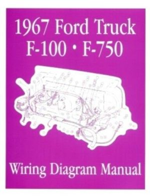 FORD 1967 F100  F750 Truck Wiring Diagram Manual 67 | eBay
