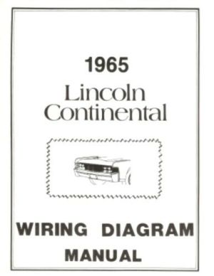 LINCOLN 1965 Continental Wiring Diagram Manual 65 | eBay
