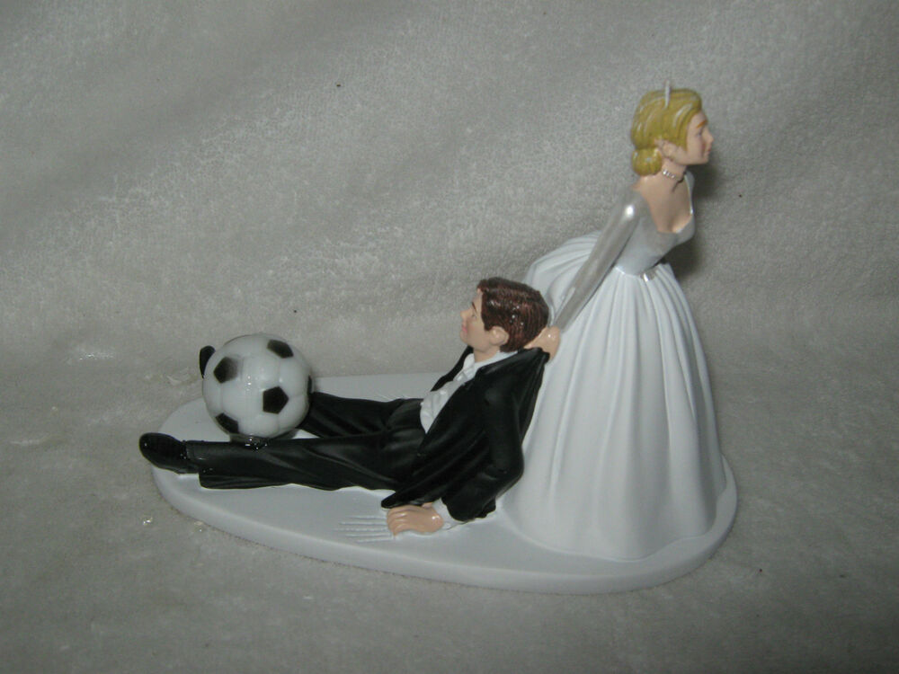 Wedding Party Reception Soccer Ball Sports Bride Dragging