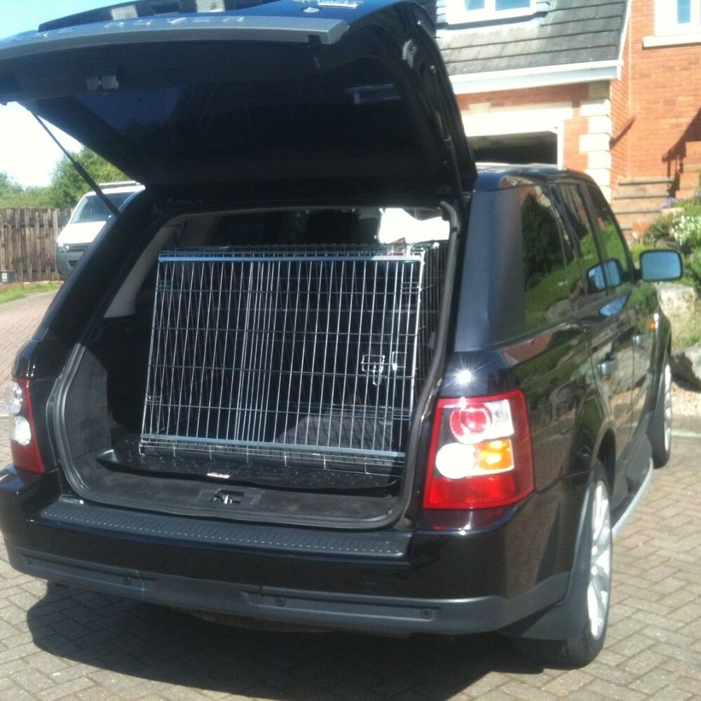 PET WORLD RANGE ROVER SPORT SLOPING CAR DOG CAGE BOOT