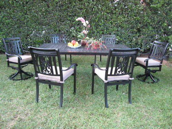 outdoor patio dining set furniture Cast Aluminum Outdoor Patio Furniture Dining Set A with 2