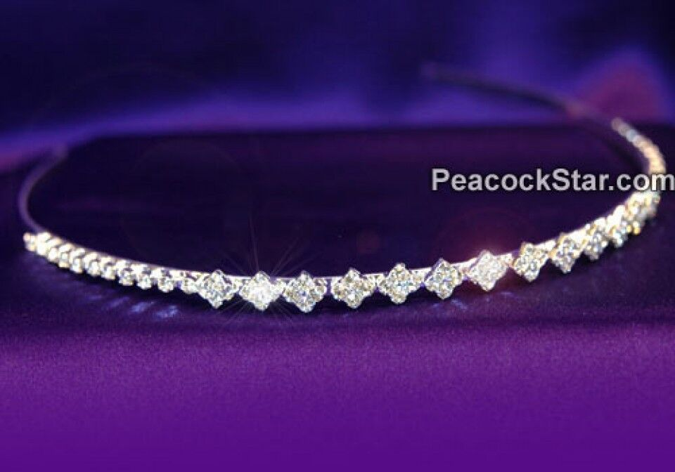 Diamond Crystal Headband Tiara Bridal Prom Quinceanera
