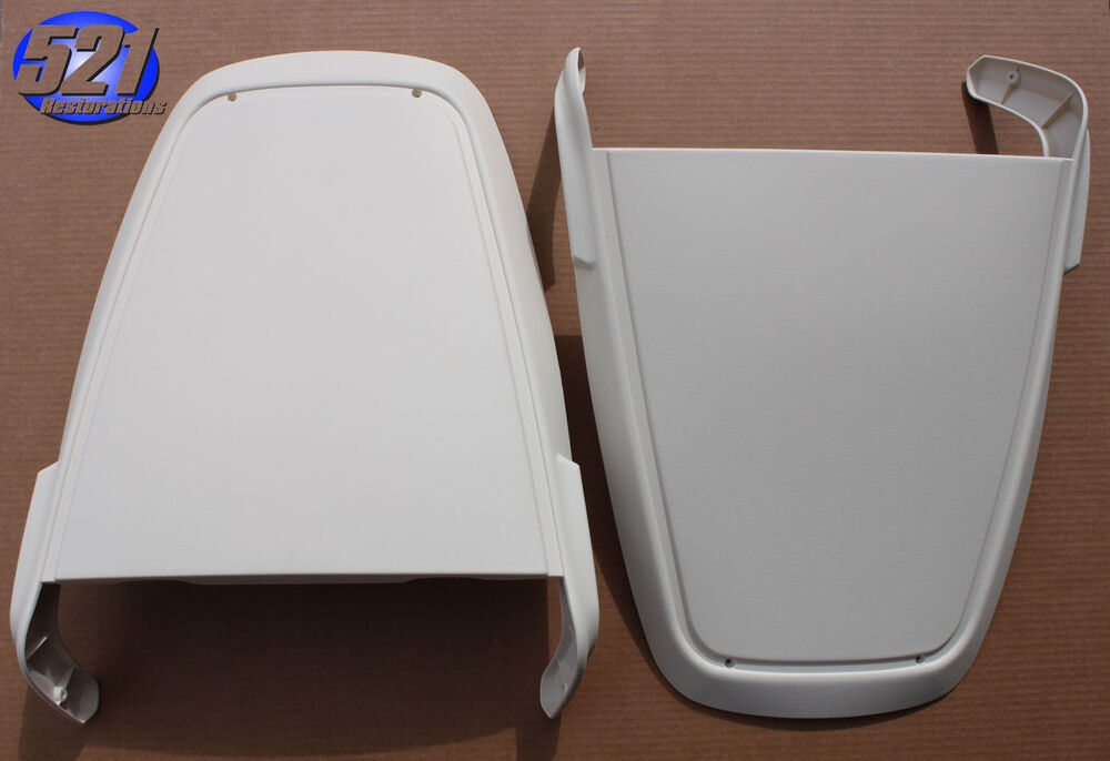 Mopar 71 74 Bucket Seat Back Covers White Charger