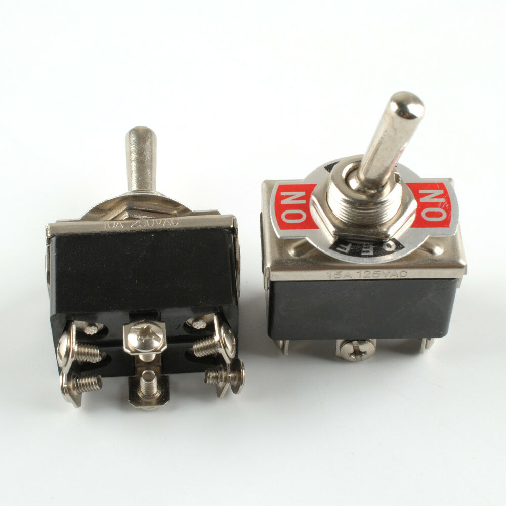 2x Heavy Duty Toggle Switch Dpdt On Off On Switch 6