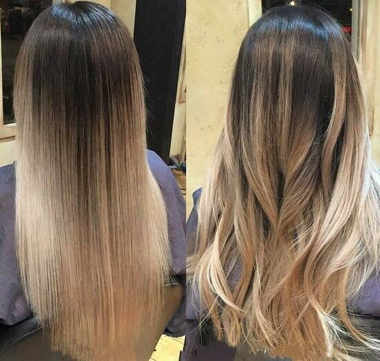 One Piece Ombre Balayage Half Full Head Clip In Hair