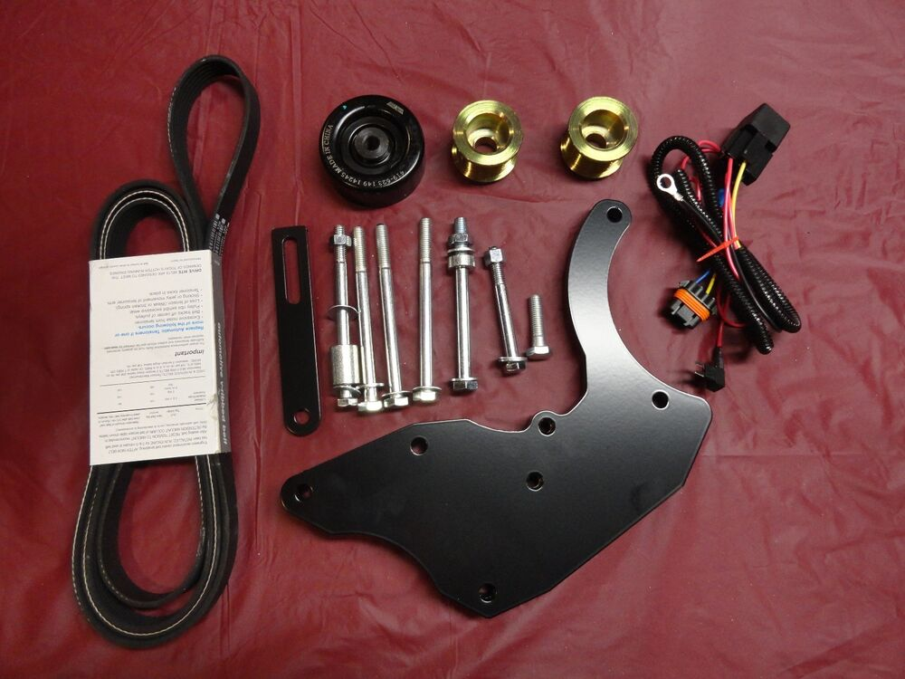 Dual Alternator Bracket Kit And 2 Overdrive Pulleys Chevy