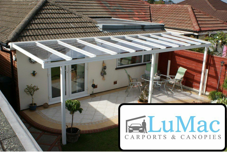 Glass clear roof cover Patio roof covering Shelter Garden ... on Patio Cover Ideas Uk id=95069