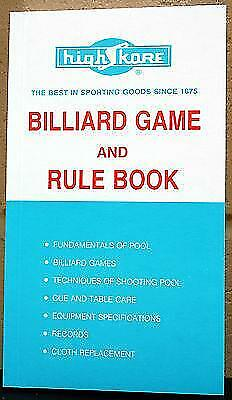 Pool And Billiard Rule Book Ebay