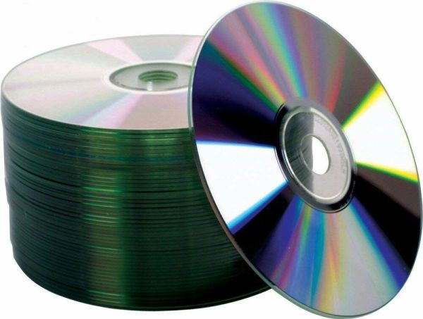 50 52X Shiny Silver Top Blank CD-R CDR Recordable Disc | eBay