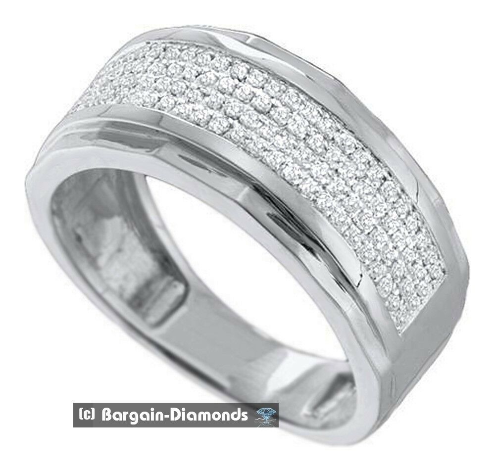 Mens Diamond Wedding Ring Band 35 Carats Dress