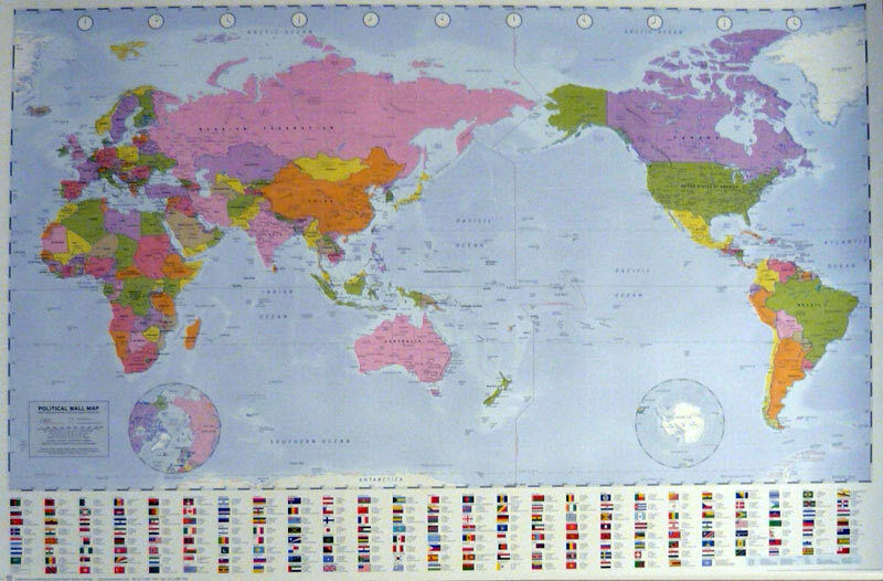 WORLD MAP POSTER 60x90cm NEW Flag Country information Australia     WORLD MAP POSTER 60x90cm NEW Flag Country information Australia center  education   eBay