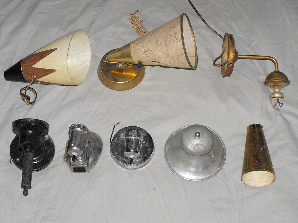 Old VTG Decorative Wall Lamp Sconce Portable Light Fixture ... on Wall Sconce Parts id=60766