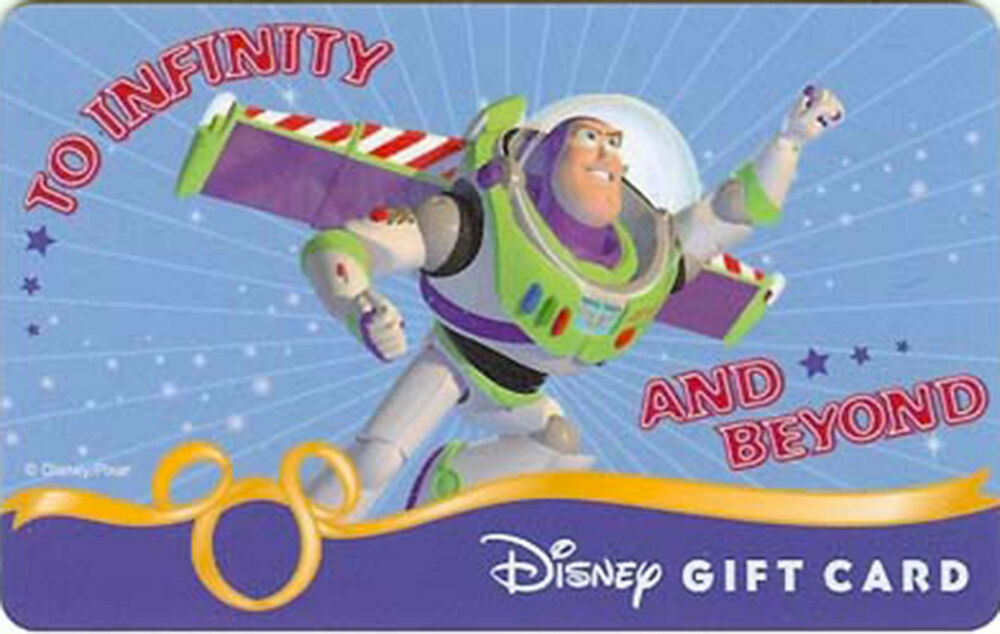 New Disney Buzz Lightyear Toy Story Collectible Gift Card
