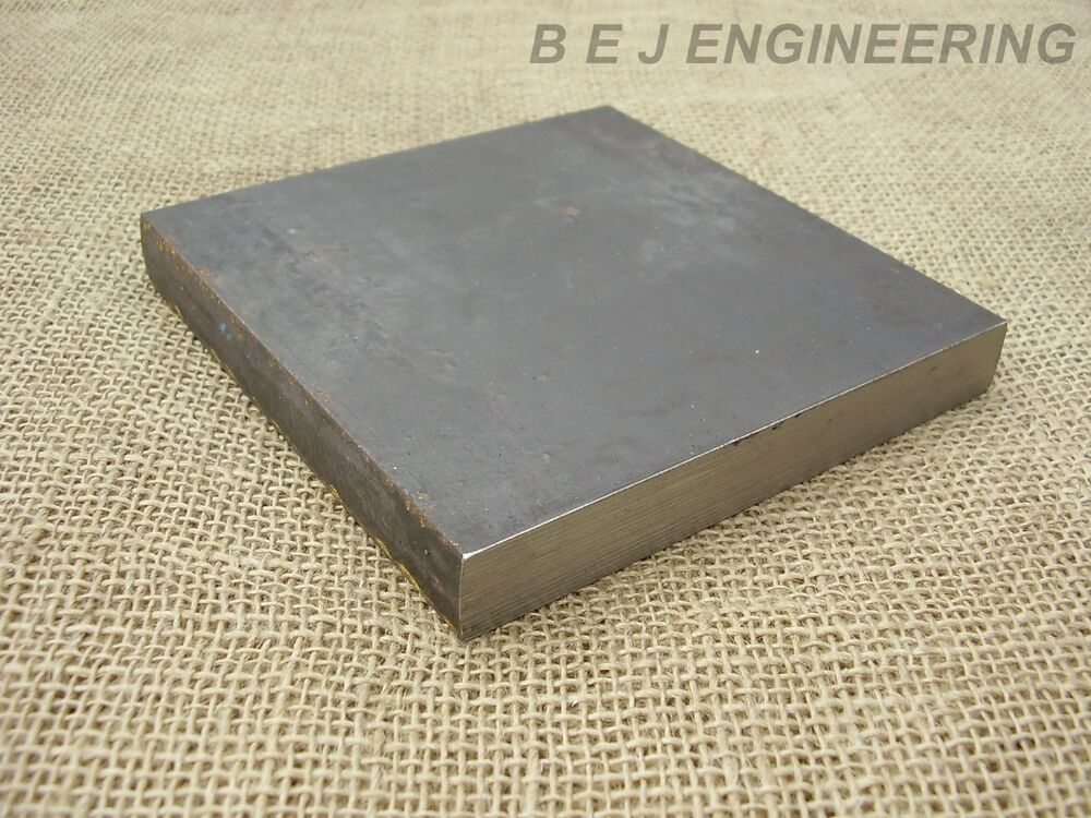 Black Steel Square Plate 150mm X 150mm X 20mm Fixing