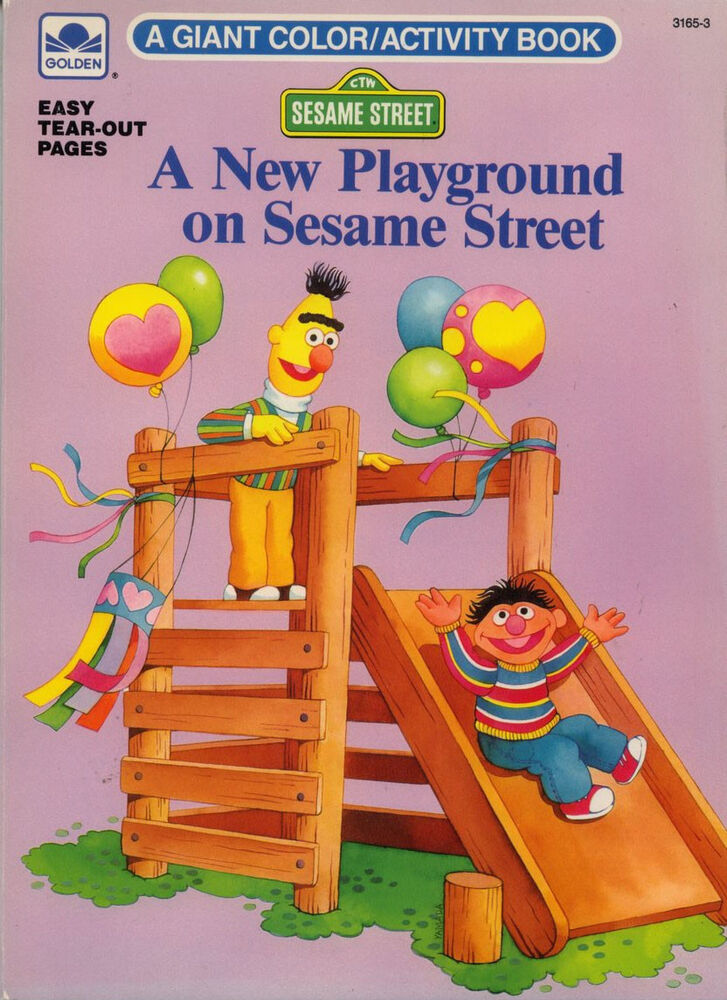 Sesame Street Coloring Book RARE UNUSED EBay