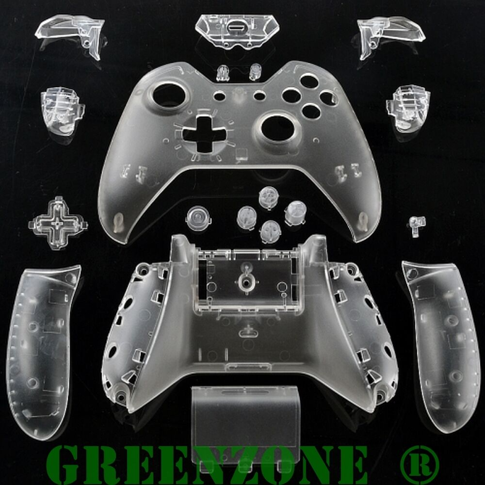 Clear Xbox One Replacement Custom Controller Shell With