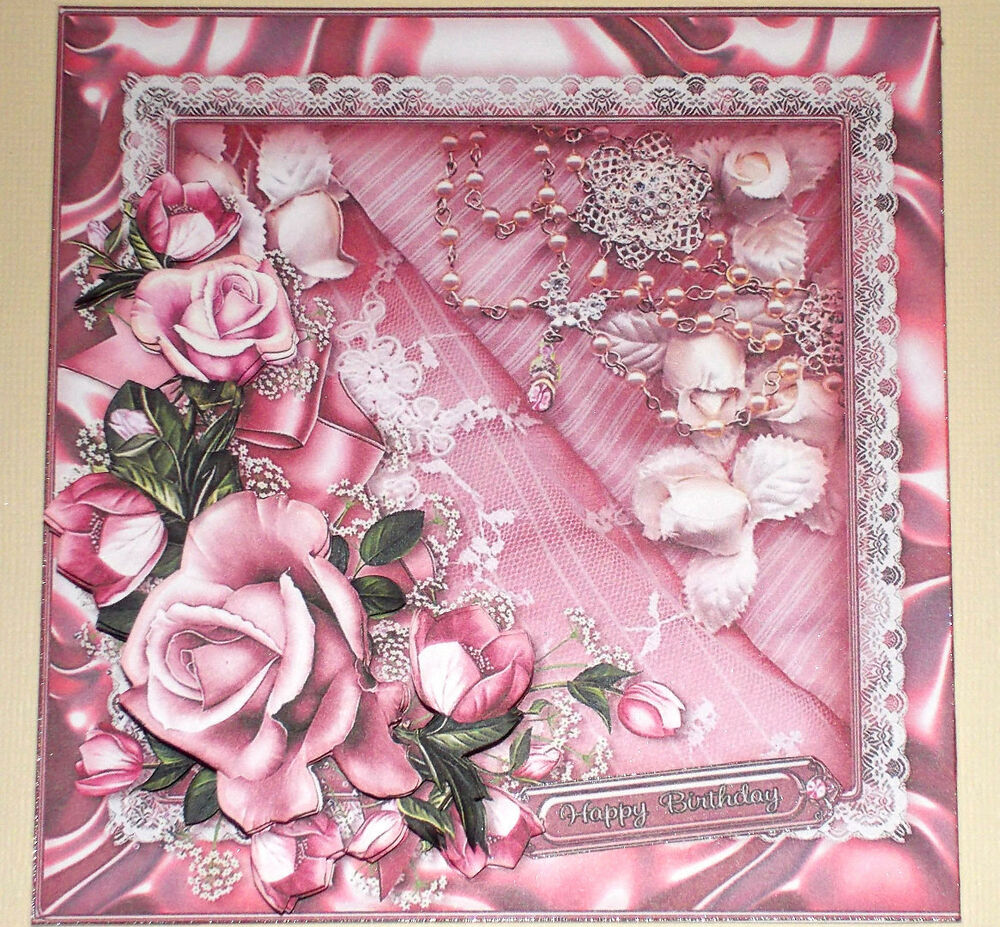 However, you might be pleasantly surprised to learn that you can do so much more. Handmade Greeting Card 3D All Occasion With Pink Roses And Lace | eBay