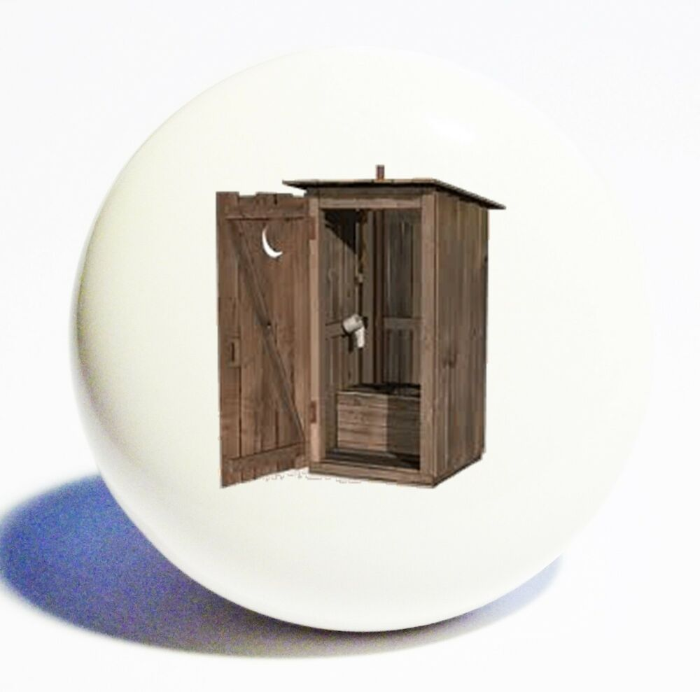 Rustic Country Outhouse Home Decor Ceramic Knob Drawer