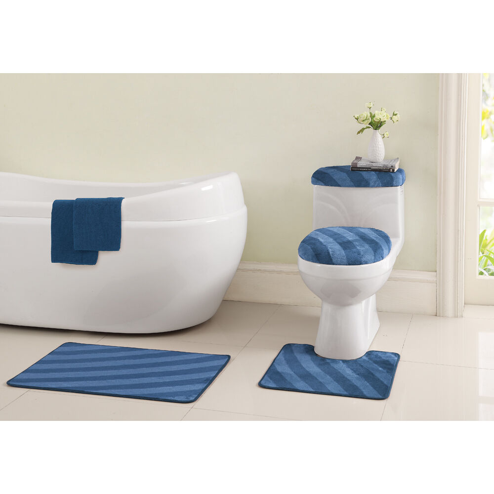 VCNY Addie 6 Piece Bath Mats And Toilet Cover Set With