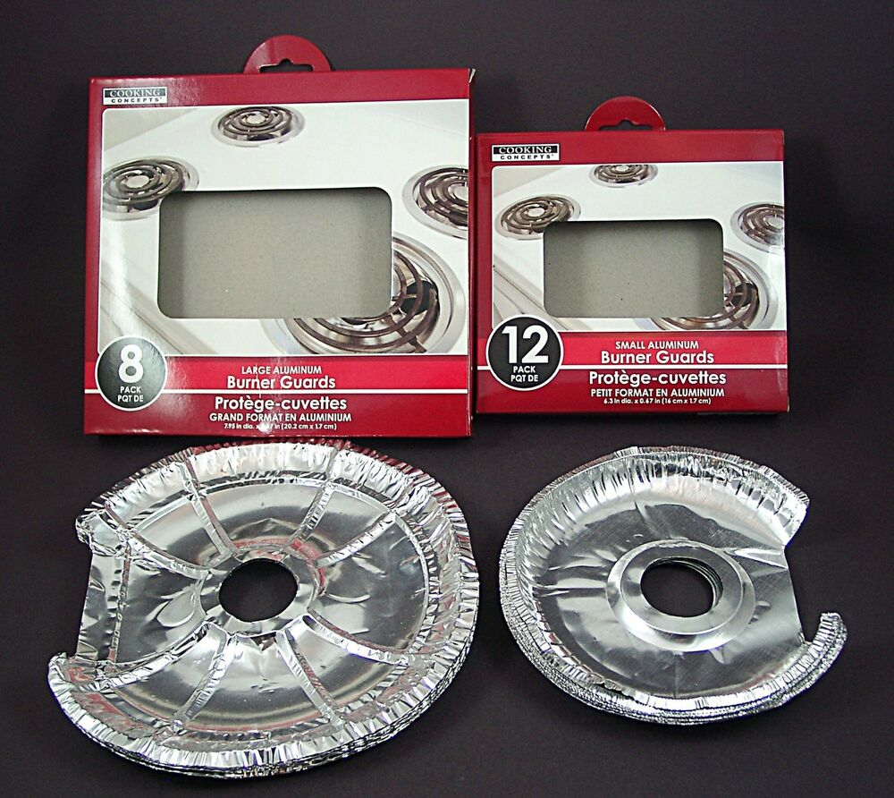 New 40 Pcs SPECIAL CUT Stove Burner Bibs Aluminum Foil Drip Guard Liners Covers EBay