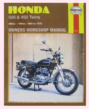 MAN211 Haynes Manual for Honda CB CL CB450 CL450 & CB500