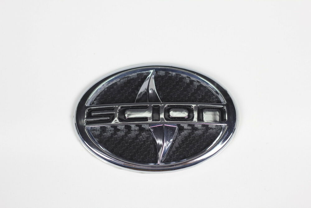 Scion Large Carbon Fiber Style Emblem Badge Sticker TC XA