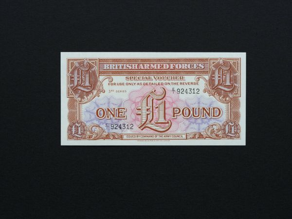 GREAT BRITAIN BANKNOTES - Quality 1 pound Military notes ...