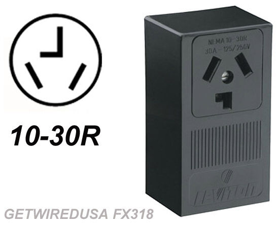 DRYER ELECTRIC WALL OUTLET FEMALE 10-30R 3-PRONG PLUG IN