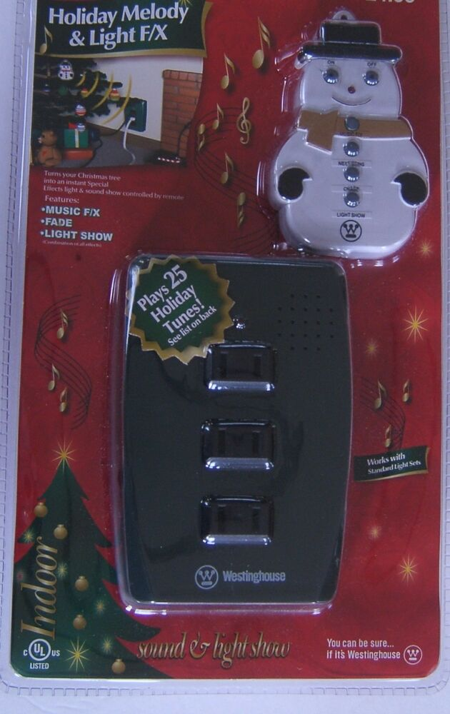 Westinghouse Holiday Melody Amp Light Show 25 Tunes Musical
