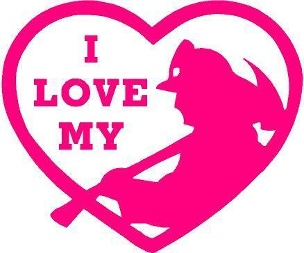 PINK Vinyl Decal - I love my firefighter in heart fire ...