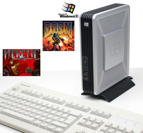PC COMPUTER HEWLETT PACKARD HP T5720 WINDOWS 98 DOOM ...