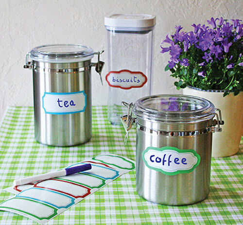 WALLIES DRY ERASE LABELS Stickers 10 Decals For Jelly