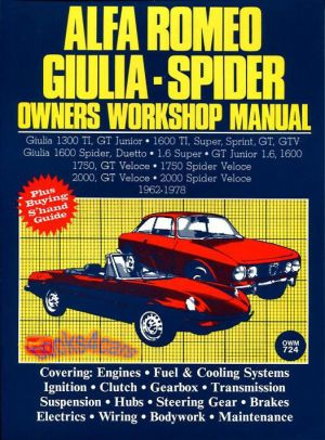ALFA ROMEO SHOP MANUAL SERVICE REPAIR BOOK OWNERS WORKSHOP