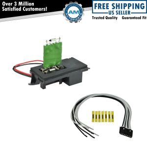 Front Heater Blower Motor Resistor w Plug & Pigtail for