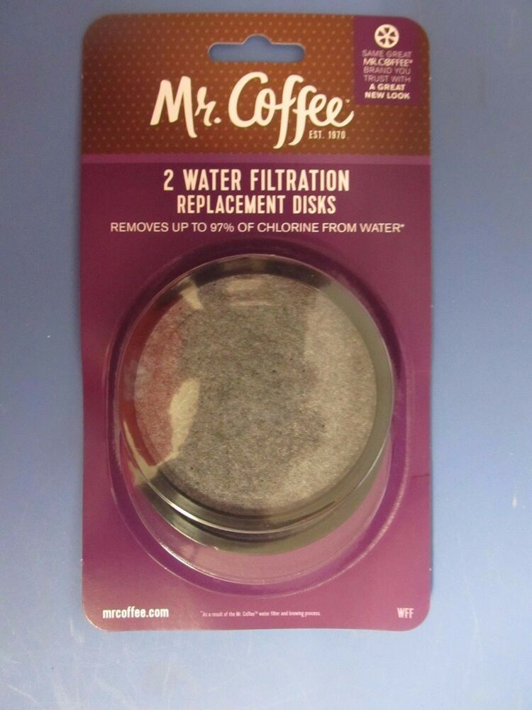 Mr Coffee Water Filter Replacement Disc Pack Of 2 WFFPDQ 10 NEW 72179224945 EBay