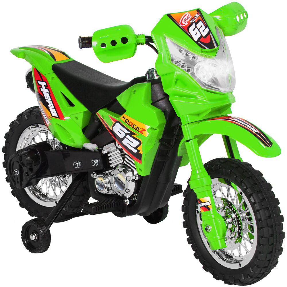6V Electric Kids Ride On Motorcycle Dirt Bike W Training