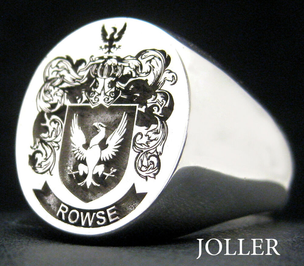 SIGNET RING EXTRA LARGE 19MM X 17MM CUSTOM ENGRAVED FAMILY