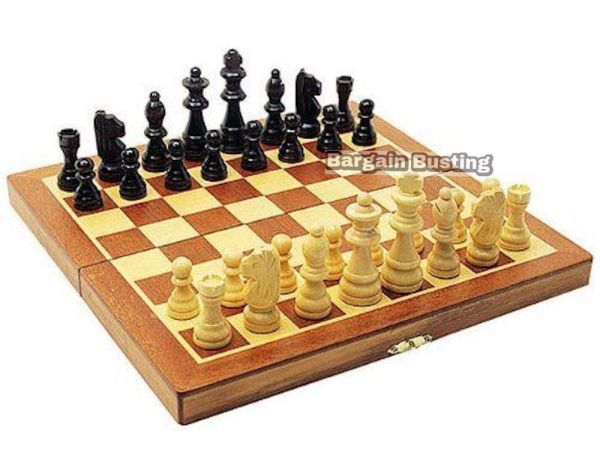 Quality 3 in 1 Folding Wooden Chess Backgammon Draughts ...