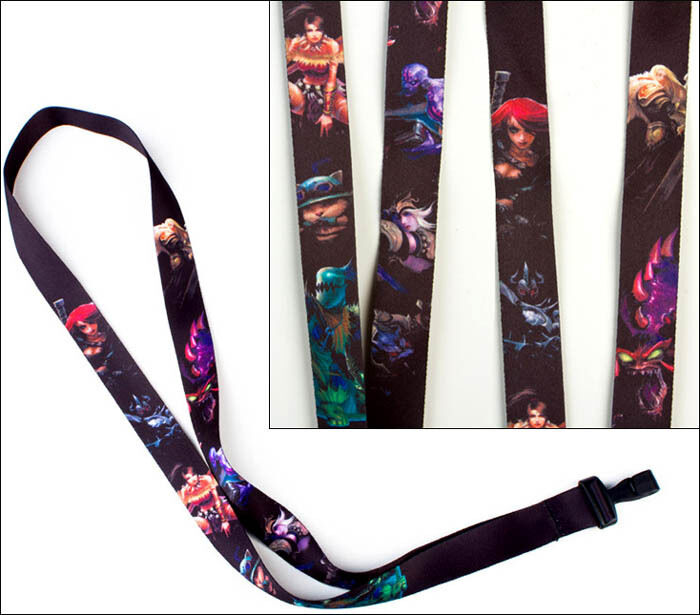 League Of Legends PC Team Kat Lanyard Necklace ID Badge