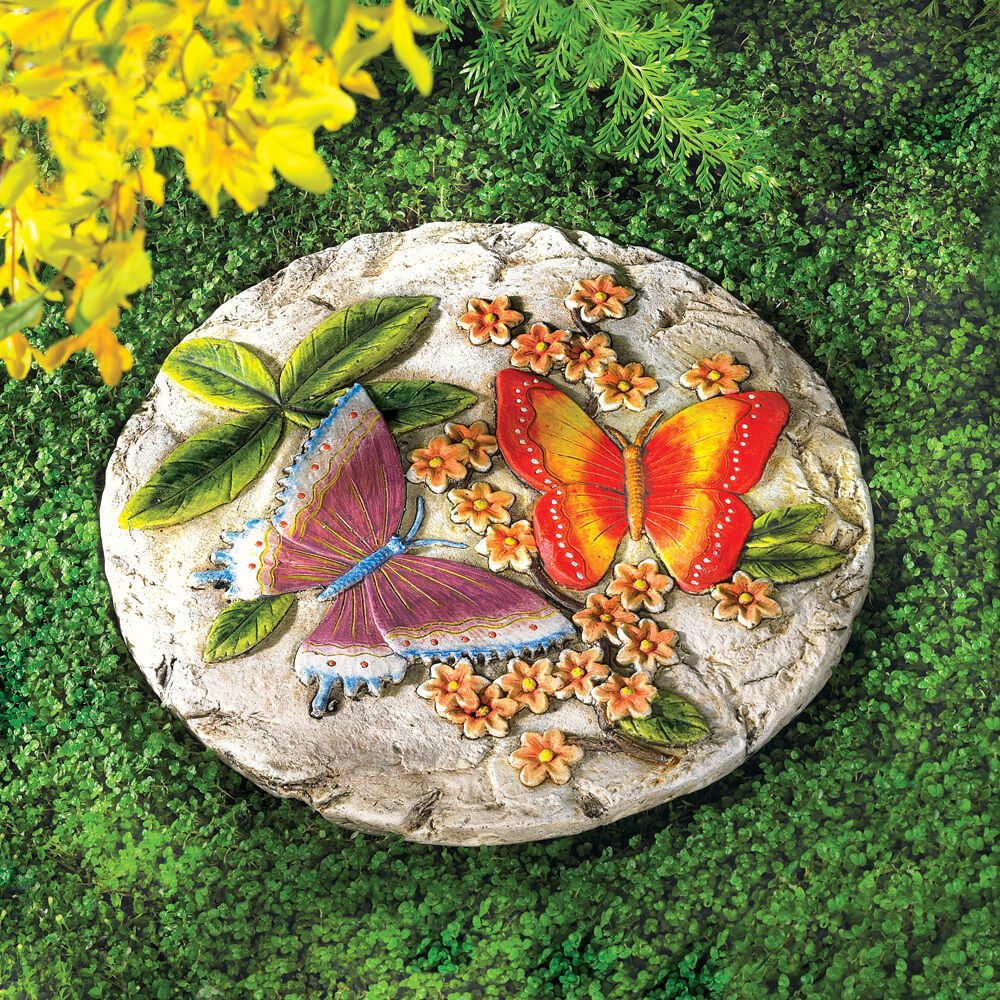 BUTTERFLY GARDEN CEMENT STEPPING STONE Patio Ideas ... on Stepping Stone Patio Ideas  id=55188