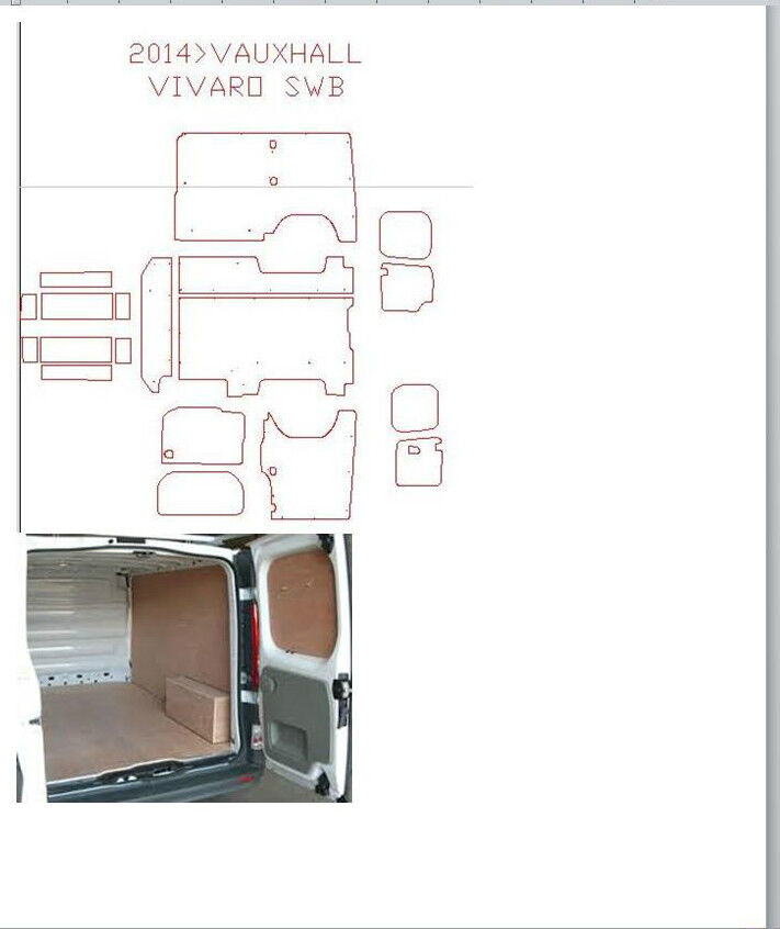 Van Ply Lining Templates CAD Outlines In DXF Format For CNC Router EBay