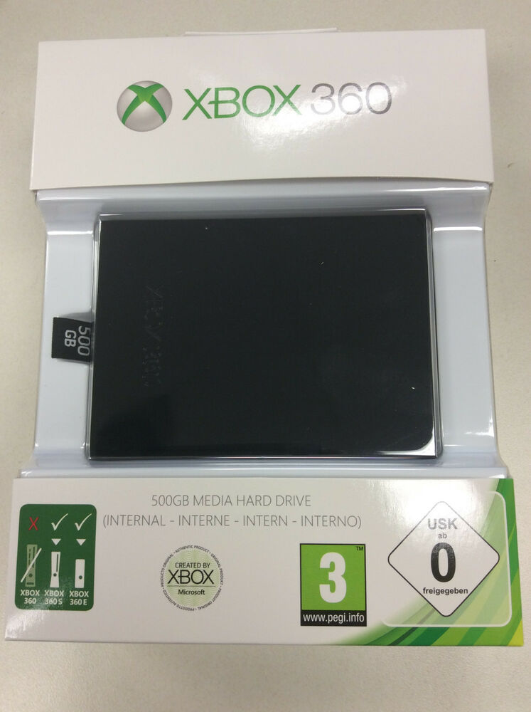 New 500GB Xbox 360 Slim Hard Drive Official Microsoft